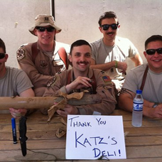 army guys - THANK YOU KATZ'S DELI