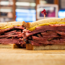 pastrami and mustard on rye