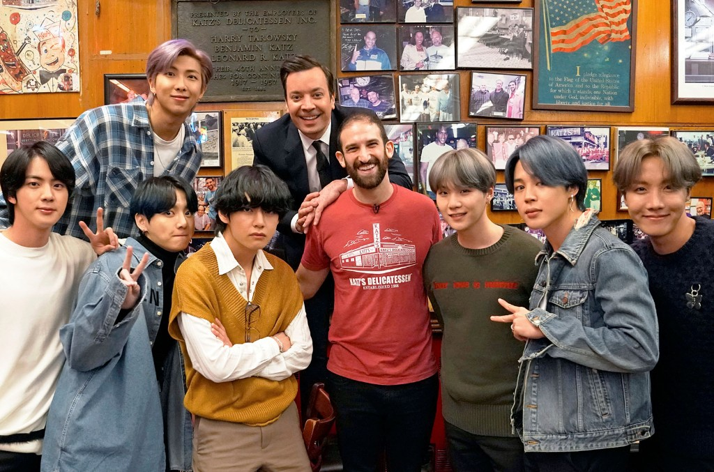 How BTS Secretly Visited New York City's Most Famous Deli For 'The Tonight Show'