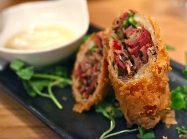 Red Farm Pastrami Eggroll