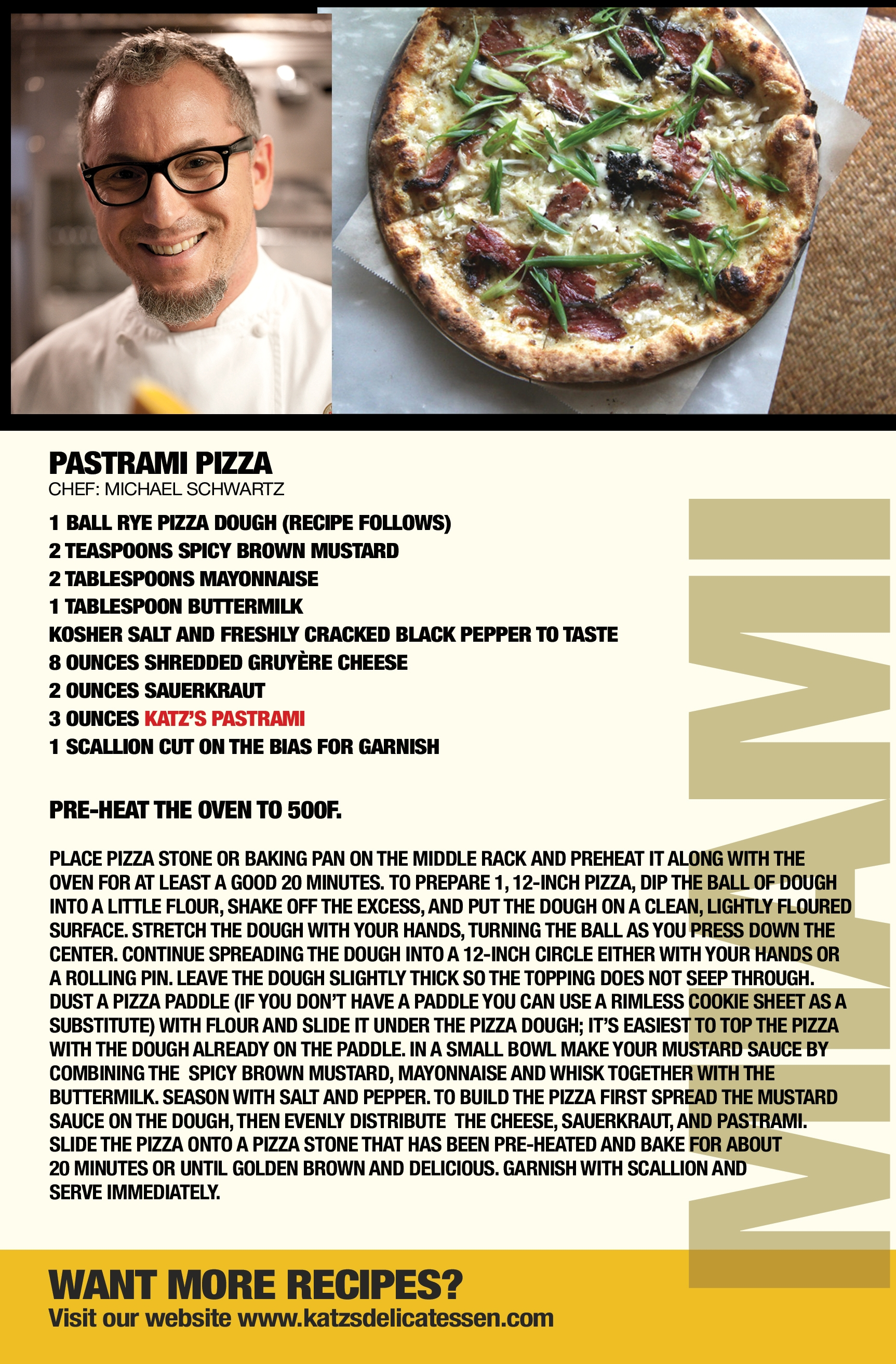 Pastrami Pizza Recipe