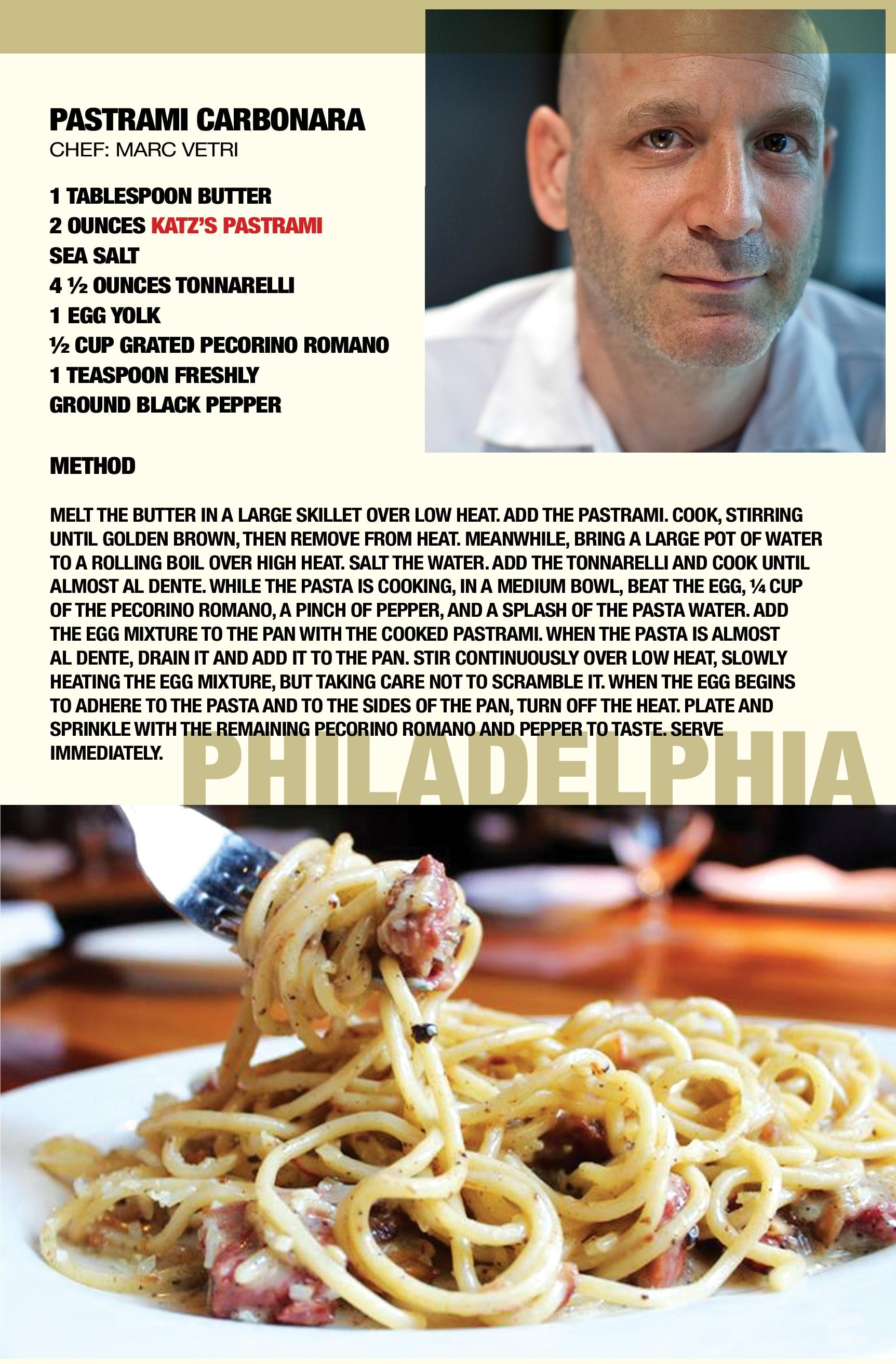 Pastrami Carbonara